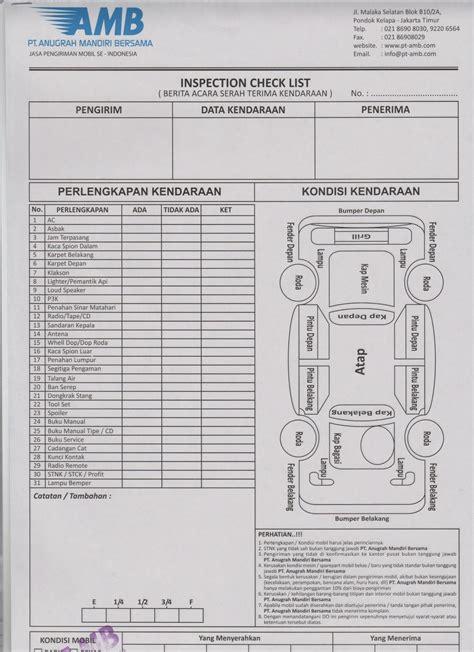 kirim mobil test contoh dokumen pada saat serah terima kendaraan