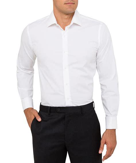 White Shirt heusen slim fit cotton white shirt heusen
