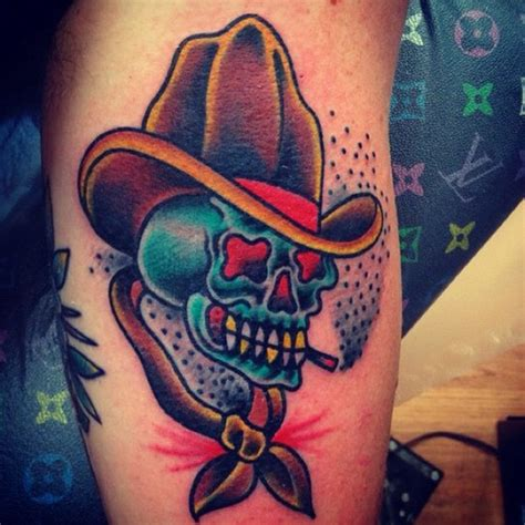 cowboy skull tattoo 28 traditional cowboy tattoos