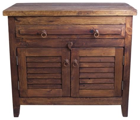 Barnwood Bathroom Vanity Barnwood Vanity With Shutter Doors 48x20x32 Farmhouse Bathroom Vanities And Sink Consoles