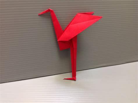 Origami Heron - daily origami 137 heron
