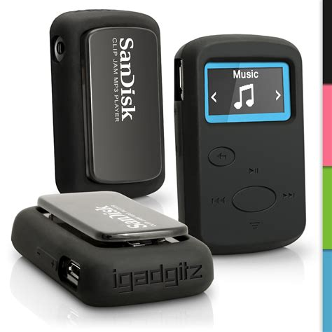 The Mp3 Player That Gives You Skin by Igadgitz Black Silicone Skin For Sandisk Sansa Clip