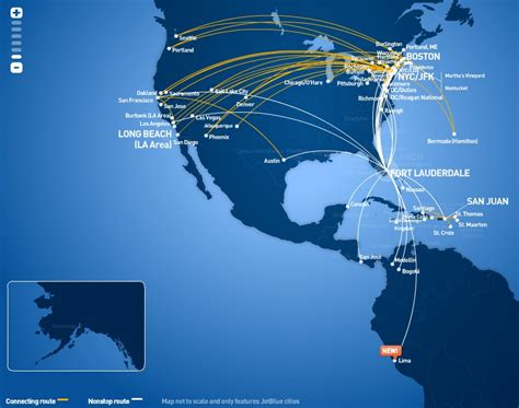 jetblue route map jetblue world airline news