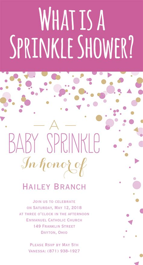 Sprinkle Baby Shower Etiquette what is a sprinkle shower