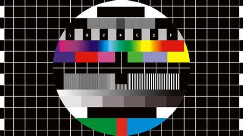 grid pattern on tv digital art monoscope numbers tv black background