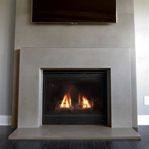 plane concrete fireplace surround trueform concrete
