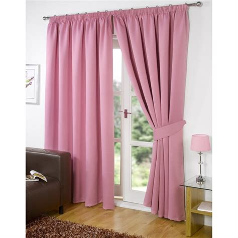 Pink Blackout Curtains Dreamscene Blackout Pencil Pleat Curtains Pink Iwoot