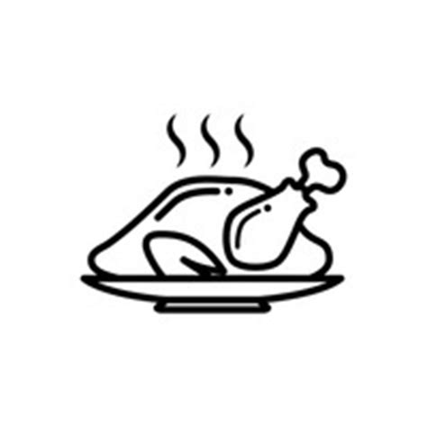 Roast Chicken Outline by Food Foods Bowl Bowls Soup Soups Aroma Aromas Steamy Ladle Ladles Outline Outlines Linear