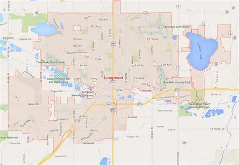 longmont co map longmont colorado map