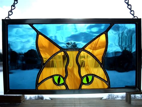 stained glass cat stained glass on pinterest stained glass fireplace