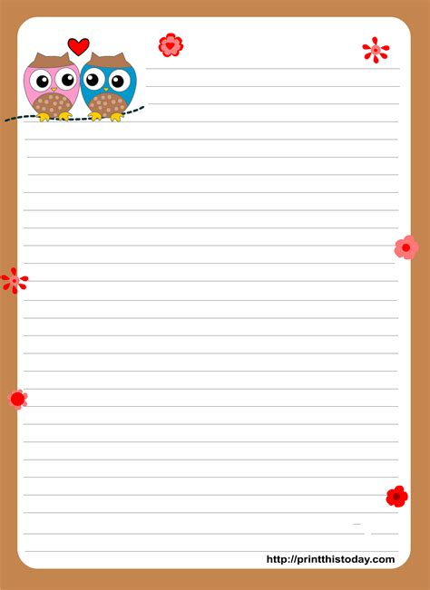 images printable stationary pinterest