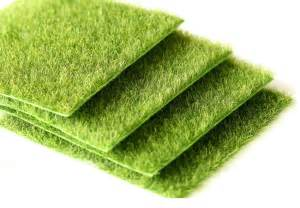 Nearly natural grass mat green artificial lawns 15x15cm turf carpets