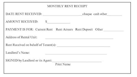 Rent Receipt Sle Ontario by Ontario Landlord And Tenant Rent Receipts What Is