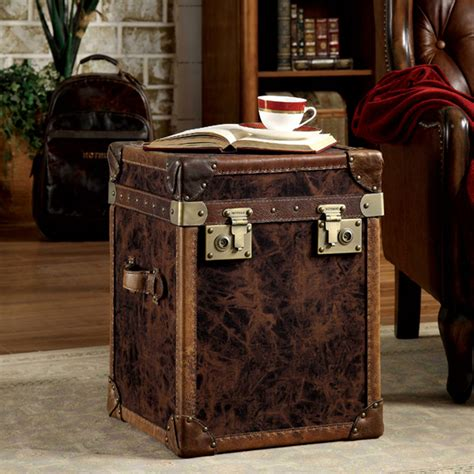 steamer trunk end table uk trunk end table with drawers
