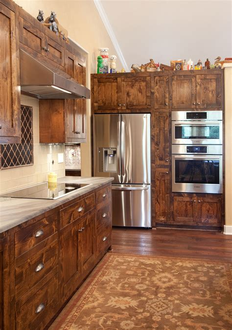 Alder Wood Kitchen Cabinets Pictures by Stained Knotty Alder Shaker Style Kitchen Cabinetry