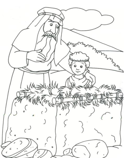 abraham and isaac bible coloring pages coloring pages