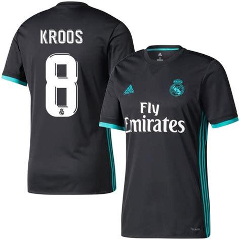 Jersey Real Madrid Away 2017 2018 Set Kit Official Cetak Nama real madrid away kroos jersey 2017 2018 official printing