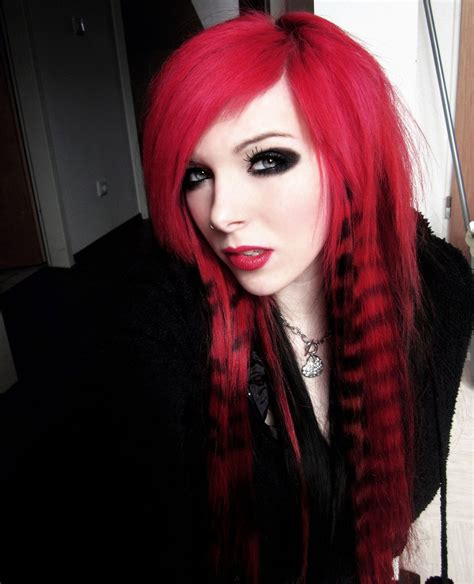 emo hairstyles red and black emo images icons wallpapers and photos on fanpop