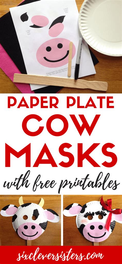 fil a cow mask template fil a cow day paper plate cow masks with free