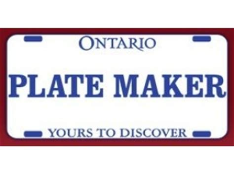Vanity License Plate Maker by Ontario Personalized License Plates For Sale Free