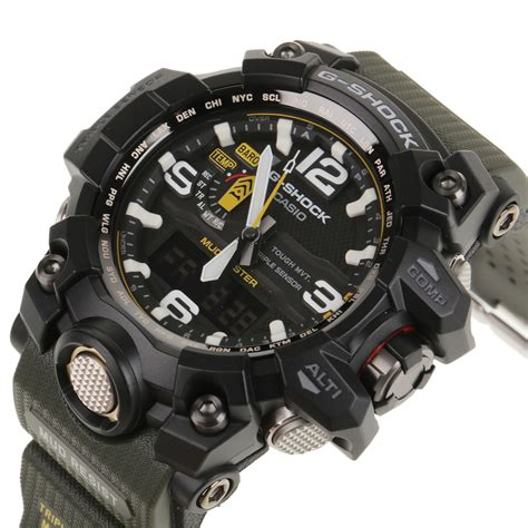 G Shock Ga 1000 Green Angka White casio g shock gwg 1000 quot mud master quot in green for lyst