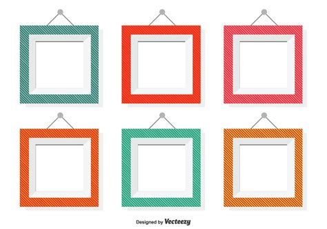 frames vector free assorted color vector frames free vector