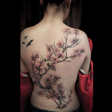 De 25 Bedste Id 233 Er Inden For Tree Tattoo Sleeves P 229 Cherry Blossom Tree Tattoos 2
