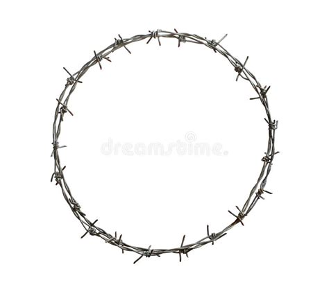 barbed wire circle stock photo image of isolated barbed