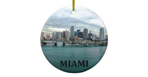 miami florida christmas ornament zazzle