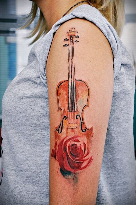 violin tattoo gallery 16 enchanting violin tattoos tattoodo