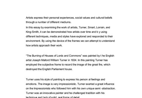Personal Belief Essay by Artists Express Their Personal Experiences Social Values And Cultural Beliefs Through A Number