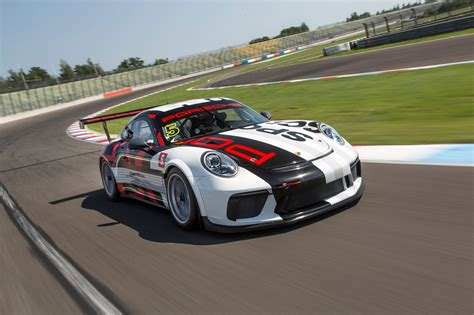 porsche race car porsche 911 gt3 cup race car front three quarter in motion