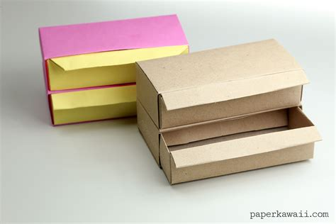 How To Make Paper Drawers - origami pull out drawers version