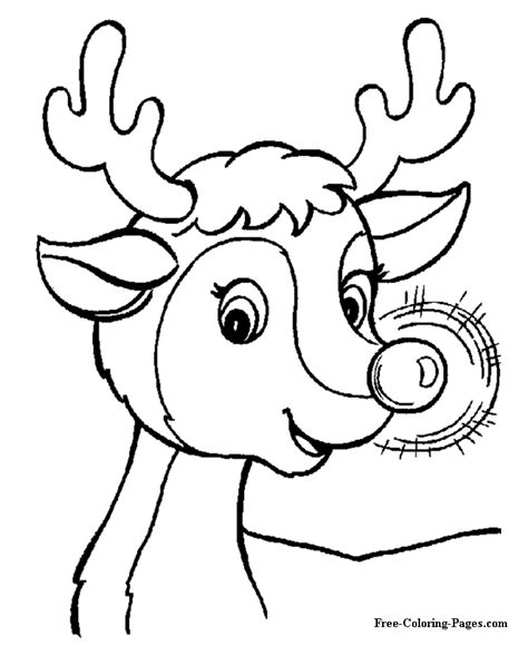free coloring pages of christmas to print printable christmas coloring book pages rudolph s glow