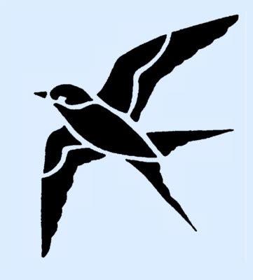 printable stencils of birds bird stencils clipart best
