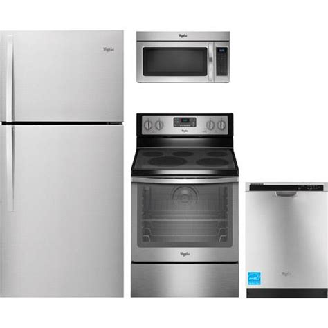 whirlpool kitchen appliance package whirlpool wrt519szdm stainless steel complete kitchen