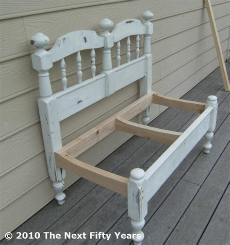 how to make a bench from a headboard pekayuan curved garden bench plans