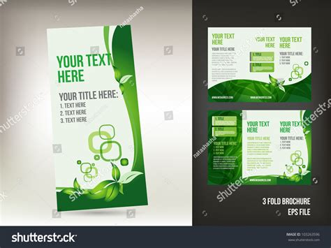 green brochure template eco green brochure template stock vector 103263596