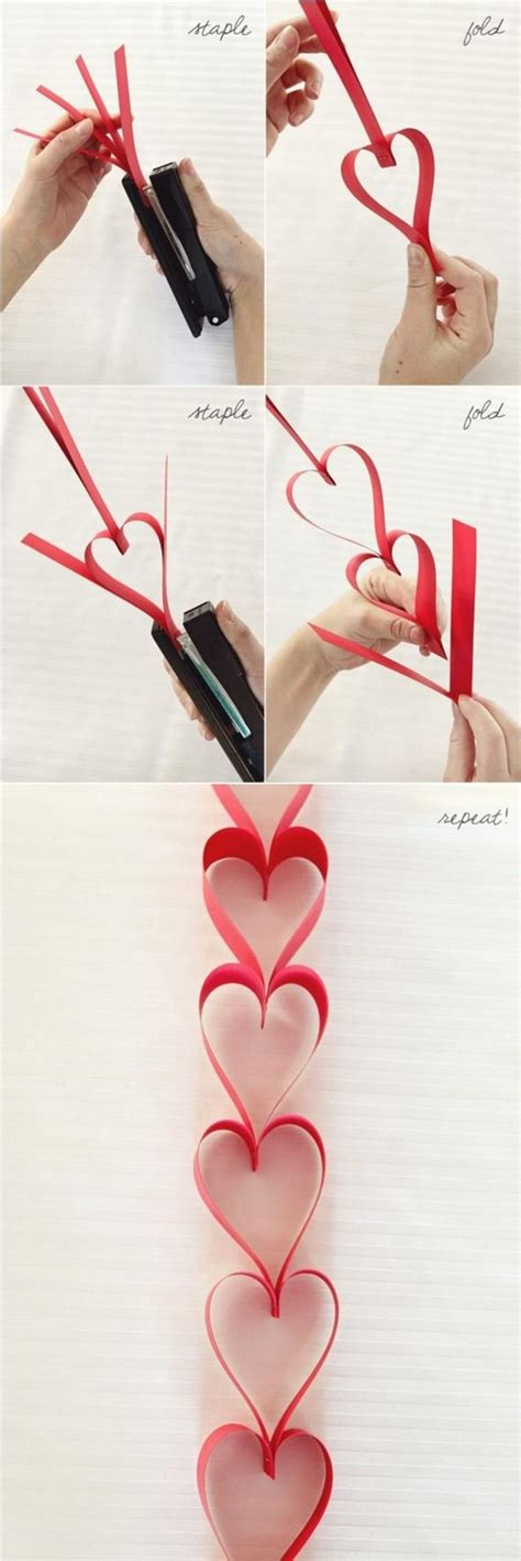 How To Make Paper Chain Hearts - paper chains valentines day
