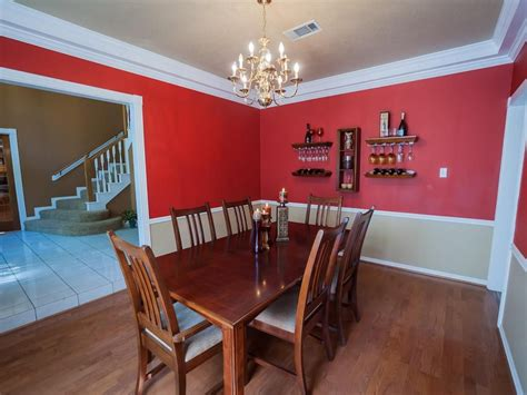 two tone dining room paint cheerful red white two tone wall paint ideas feats vintage