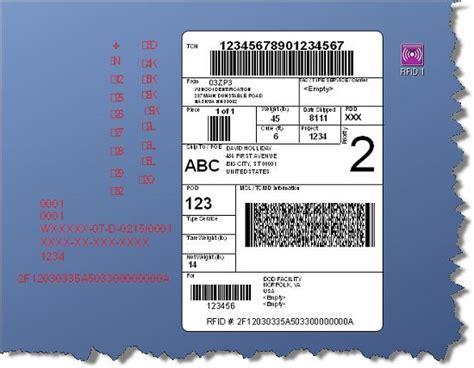 mil std 129 labels new bartender rfid templates