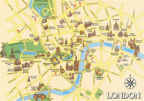 uk attractions map maps of and central tourist attractions
