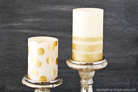 how to make a glitter candle diy home decor 187 the real diy gold glitter candles a pumpkin and a princess
