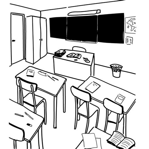 Drawing 1 Class by Classroom 1 Buildings And Architecture Printable