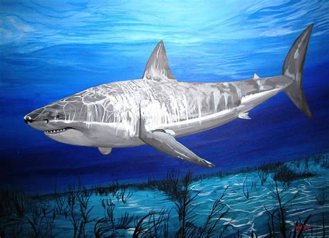 shark painting this is a shark painting by kevin f heuman