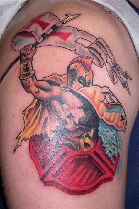 tattoo cross street ryde st florian firefighter maltese cross tattoo shoulder