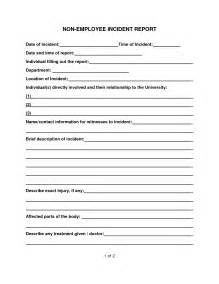 Free Incident Report Form Template by Best Photos Of Employee Incident Report Template Free
