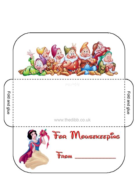 printable housekeeping tip envelopes disney mousekeeping envelopes related keywords disney