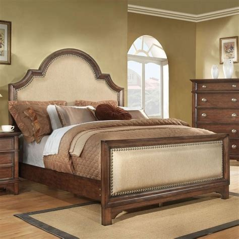King Size Headboard And Footboard Sets by Brown High Gloss Finish Single Size Trundle Bed