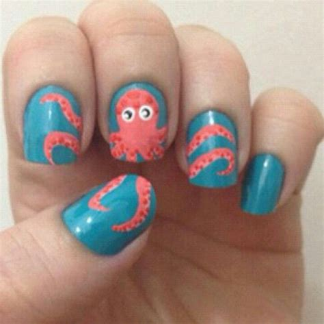 nail art tutorial funky blue zipper best 25 octopus nails ideas on pinterest nautical nail